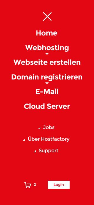 Hostfactory mobile menu