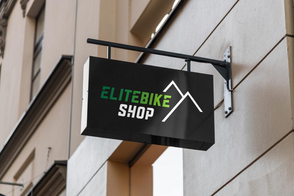 Shop-Beschriftung Elitebikeshop